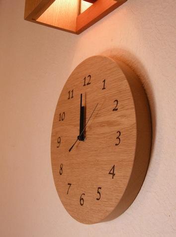 数字の木の時計 栃木 那須 家具工房kinome